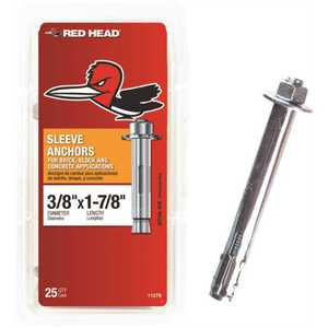 Red Head 11279 3/8 in. x 1-7/8 in. Hex Sleeve Anchor - pack of 25