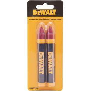 DEWALT DWHT72720 Mark Lumber Crayon in Red
