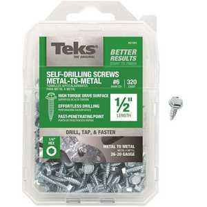 Tek 21301 #6-18 x 1/2 in. External Hex Washer Head Sharp Point Screw - pack of 320