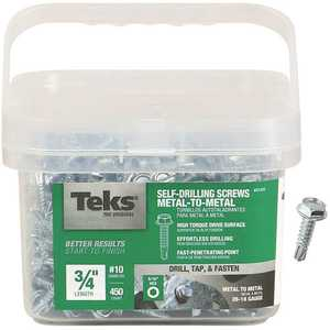 Tek 21322 #10-16 x 3/4 in. External Hex Washer Head Drill Point Screw - pack of 450