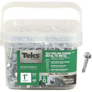 Tek 21341 #12-14 x 1 in. External Hex Washer Head Drill Point Screw - pack of 400