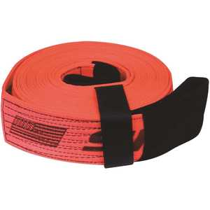 SNAP-LOC SLTT430K40R 4 in. x 30 ft. x 40,000 lbs. Tow and Lifting Strap with Hook and Loop Storage Fastener in Red