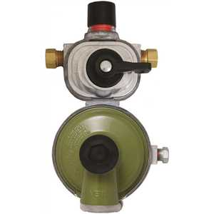 Excela-Flo MEGR-253H Automatic Changeover Regulator, High Capacity, 2 Stage, 1/4 in. Inverted Flare x 3/8 in. FNPT
