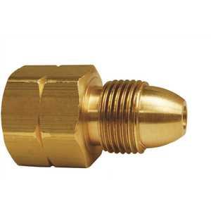MEC ME357 Single Piece Adapter Brass M Pol x 1/2 in. FNPT
