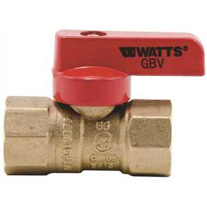 Watts GBV 1/2 Tee Handle Gas Valve 1/2 in. 5 psi