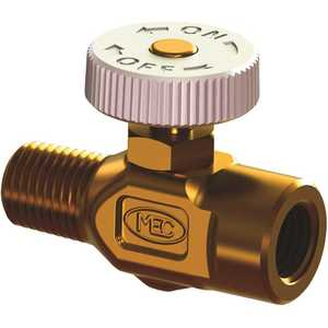 MEC ME831 1/4 in. MNPT x 1/4 in. FNPT MEC Needle Valve, Bi-Directional Flow, Brass