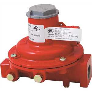 Excela-Flo MEGR-1122H-AAJ Compact First Stage 1/4 in. FNTP Inlet x 1/2 in. FNTP Outlet - 10 psi Outlet