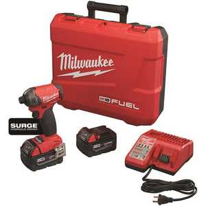 Milwaukee 2760-22 M18 FUEL SURGE 18-Volt Lithium-Ion Brushless Cordless 1/4 in. Hex Impact Driver Compact Kit with Two 5.0 Ah Batteries