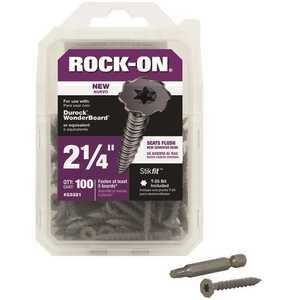 Rock-On 23321 #9 x 2-1/4 in. Serrated Flat Head Star Drive Cement Board Screws - pack of 100