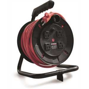 Generac 6883 50 ft. Cord Reel with 4 Outlets