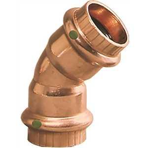 Viega 77607 ProPress 1/2 in. x 1/2 in. Copper 45-Degree Elbow