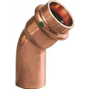 Viega 77637 1/2 in. x 1/2 in. Copper 45-Degree Street Elbow