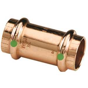 Viega 78047 1/2 in. x 1/2 in. Copper Coupling with Stop
