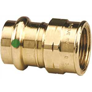 Viega 79300 1/2 in. x 1/2 in. Zero Lead Bronze Adapter