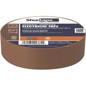 Shurtape 200789 EV 57 General Purpose Electrical Tape, UL Listed, BROWN, 7 mils, 3/4 in. x 66 ft. []