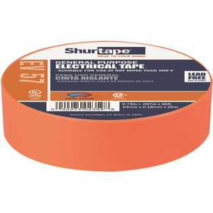 Shurtape 200787 EV 57 General Purpose Electrical Tape, UL Listed, ORANGE, 7 mils, 3/4 in. x 66 ft. []