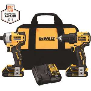 DEWALT DCK278C2 ATOMIC 20-Volt MAX Cordless Brushless Compact Drill/Impact Combo Kit (2-Tool) with (2) 1.3Ah Batteries & Charger
