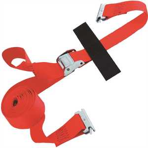SNAP-LOC SLTE220CR 20 ft. x 2 in. Cam Buckle E-Strap with Hook and Loop Storage Fastener in Red
