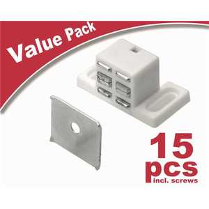 Everbilt 9265594 High Rise Magnetic Catch, White