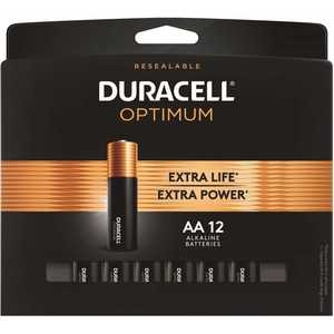 DURACELL 004133303260 Optimum AA Alkaline Battery - pack of 12