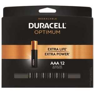DURACELL 004133303284 Optimum AAA Alkaline Battery - pack of 12