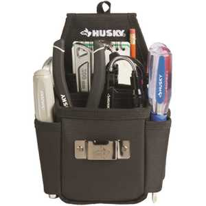 Husky HD00130-TH 6.7 in. Black 3-Pocket Utility Plus Tool Pouch
