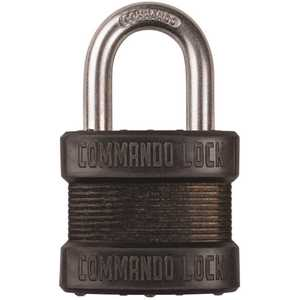 Commando Lock 1300 Blackout High Security 1-3/4 in. Keyed Padlock Outdoor Weather Resistant Military-Grade W 1-1/8in. Alloy Shackle