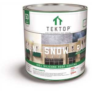 SIMIRON 40003593 TekTop 1 Gal. White 100% Silicone High Solids Roof Coating