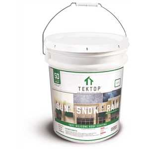 SIMIRON 40002947 TekTop 5 Gal. White 100% Silicone High Solids Roof Coating