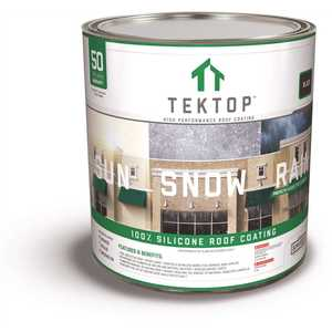 SIMIRON 40004576 TekTop 1 Gal. Black 100% Silicone High Solids Roof Coating