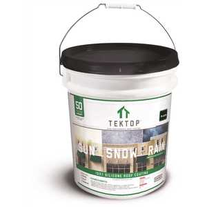 SIMIRON 40004583 TekTop 5 Gal. Black 100% Silicone High Solids Roof Coating