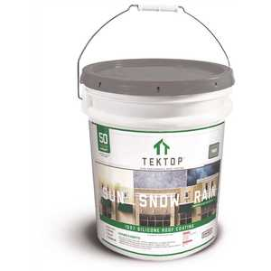 SIMIRON 40004200 TekTop 5 Gal. Gray 100% Silicone High Solids Roof Coating