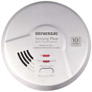 Universal Security Instruments Inc AMIC3511SB 10-Year Sealed, Battery Operated, 3-in-1 Smoke, Fire & Carbon Monoxide Detector, Multi-Criteria Detection