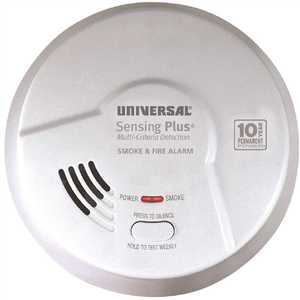 Universal Security Instruments Inc AMI3051SB 10 Year Sealed, Battery Operated, 2-In-1 Smoke And Fire Detector, Multi-Criteria Detection