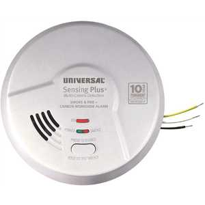 Universal Security Instruments Inc AMIC1510SB Combination 3-in-1 Hardwired Smoke, Fire and CO Alarm Detector 10-Year Sealed Battery Backup, Multi-Criteria Detection