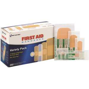 First Aid Only, Inc 90347 Assorted Adhesive Plastic Bandages - pack of 280
