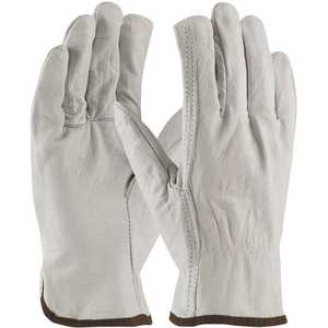 PIP 68-105/M Medium Economy Grade Top Grain Cowhide Leather Drivers Glove Straight Thumb - pack of 12