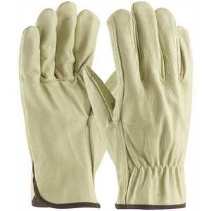 PIP 70-301/M Medium Economy Grade Top Grain Pigskin Leather Driver's Glove Straight Thumb - pack of 12