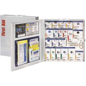 First Aid Only, Inc 746004 50-Person Large Metal SmartCompliance Cabinet, ANSI Compliant
