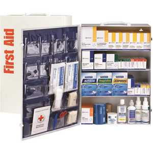 First Aid Only, Inc 90576 150-Person 4-Shelf First Aid Cabinet with Medications, ANSI Compliant