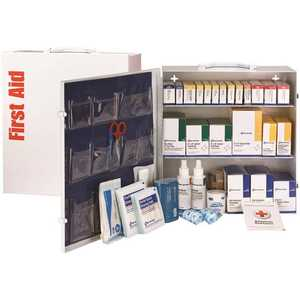 First Aid Only, Inc 90790 100-Person 3-Shelf First Aid Cabinet, ANSI Compliant