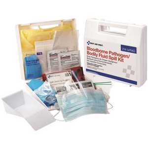 First Aid Only, Inc 214-U/FAO Bloodborne Pathogen Plastic Spill Clean Up Kit
