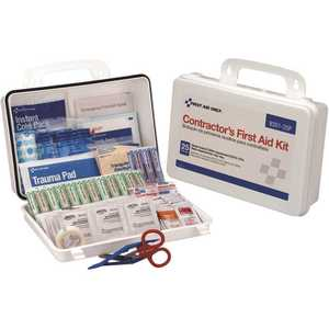First Aid Only, Inc 9301-25P 25-Person Plastic Contractor First Aid Kit, OSHA Compliant