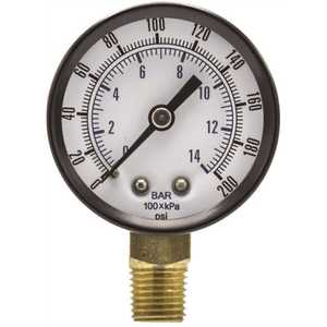 pic SE-101D-204G 100 Series 2 in. Dial 1/4 NPT Lower Mount 200 psi Utility Accessory