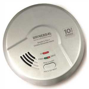 USI Electric MIC3510SB-6P Combination 3-in-1 Smoke, Fire and CO Alarm Detector, Battery Operated, 10-Year Sealed - pack of 6