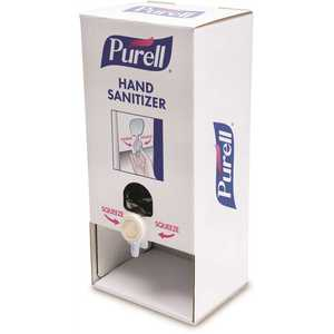 PURELL 2156-02-TTS PUSH-STYLE 1000ML WHITE CARDBOARD HAND SANITIZER TABLETOP STAND DISPENSER (2 REFILLS INCLUDED)