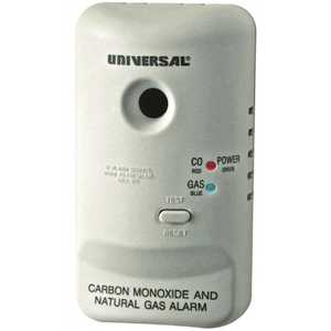 USI Electric MCN400B-6P Plug-In, 2-In-1 Carbon Monoxide & Natural Gas Detector, Battery Backup, Microprocessor Intelligence - pack of 6