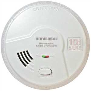 USI Electric MP316SB-6P Battery Operated Combination 2-in-1 Photoelectric Smoke and Fire Alarm Detector, 10-Year Sealed - pack of 6
