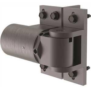 D&D Technologies 74108333T 4 in. Dark Grey 180-Degree Hydraulic Hinge-Closer Pair Aluminum Brackets, 2 Hinge-Closers