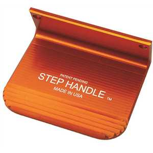 5th Axis StepHandle SH-1O Foot Door-Opener with Superior Grip. Orange with Satin Coated Finish. Made of Aerospace-Grade Aluminum